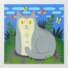 Peaceful Cat Canvas Print