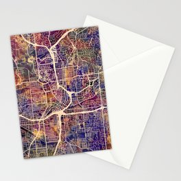 Atlanta Georgia City Map Stationery Cards