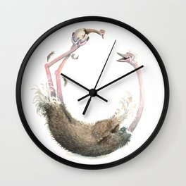 O is for Ostrich! from The Laugh-A-Bit Alphabet Collection by BirdsFlyOver Wall Clock