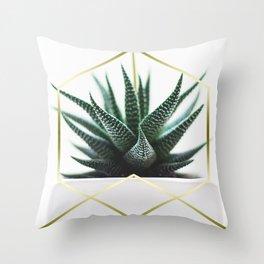 LUXE x SHEA - Gold plant life minimal Throw Pillow