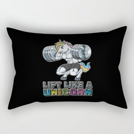 Lift Like A Unicorn | Fitness Weightlifting Muscle Rectangular Pillow