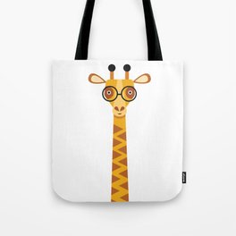 Geeky giraffe. Giraffe with glasses. Tote Bag