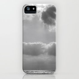 Sky and Sea in Gray iPhone Case
