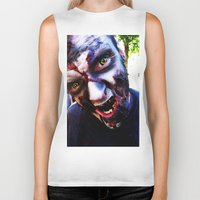 zombies Biker Tanks featuring Zombies ! by bobbierachelle