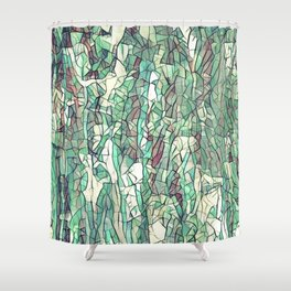 Abstract green Shower Curtain