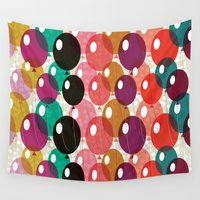balloons Wall Tapestries featuring Balloons by Michelle Nilson