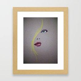 Blond Nose Eyes Lips Framed Art Print
