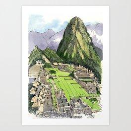 Machu Piccu, Peru Art Print