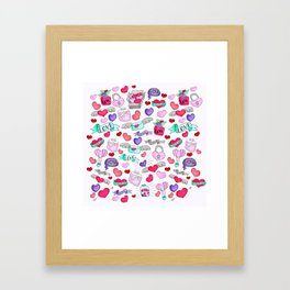 Lovely doodle drawing Valentine's Day gift Framed Art Print