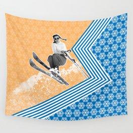 Ski Like a Girl Wall Tapestry