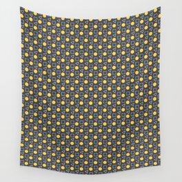 Geo Sprinkles Yellow (Black Sesame) Wall Tapestry