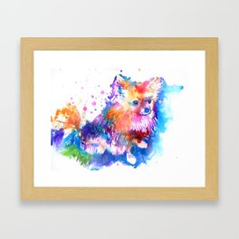 Pop Art Pomeranian Framed Art Print