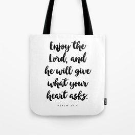 Psalm 37:4 - Bible Verse Tote Bag