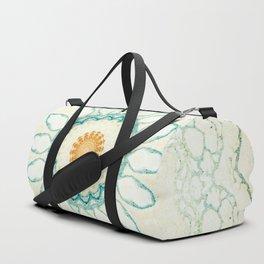 Pastel Yellow Baby Blue Mandala Duffle Bag