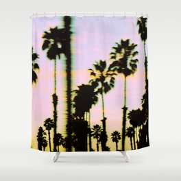California Dreaming Palm Trees Sunset Shower Curtain