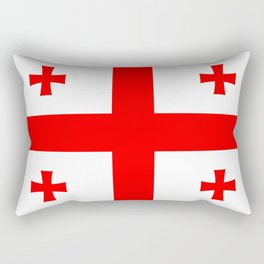Flag Of The Country Of Georgia Rectangular Pillow