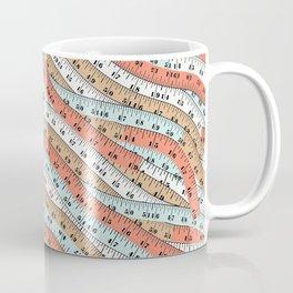 Vintage tape measure print Coffee Mug