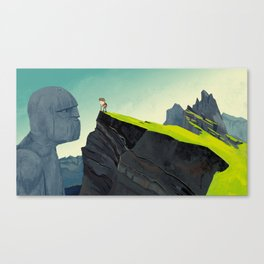 The thing in the mountains Canvas Print