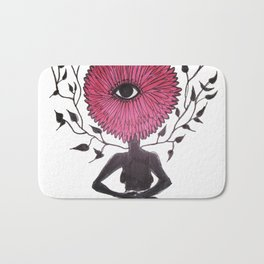 Divine Flower Woman Bath Mat
