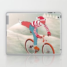 rushing home for christmas Laptop & iPad Skin