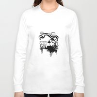 cigarette Long Sleeve T-shirts featuring Cigarette by alexflasher