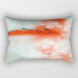 Frosted to Red Rectangular Pillow