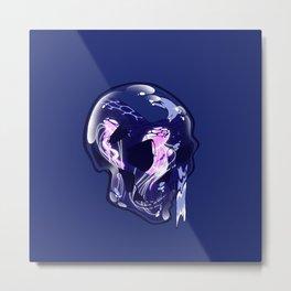 AquaSkull Metal Print