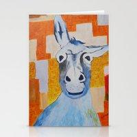 donkey Stationery Cards featuring DONKEY by Leonard Lesic
