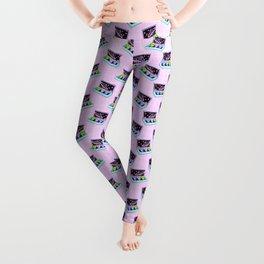 Alien box / Pink Grid Leggings