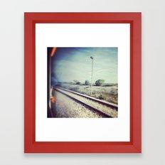 train trip Framed Art Print