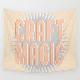 Craft Magic // Coral Wall Tapestry