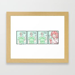 Bloody Mary (Awkward IRL #6) Framed Art Print