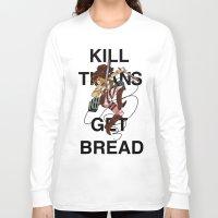teen titans Long Sleeve T-shirts featuring Kill Titans, Get Bread by Octoroxxx