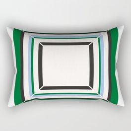 Green Blue And White Tile Rectangular Pillow
