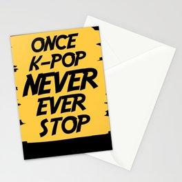 KPOP Korean Beats K-Pop Music Japan Stationery Cards