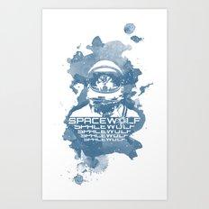 Spacewolf Art Print