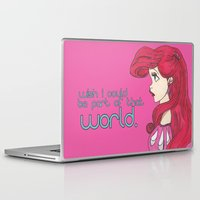 ariel Laptop & iPad Skins featuring Ariel.  by Nic Moore