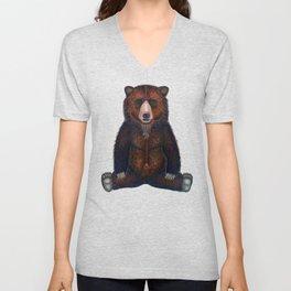 Blissed Out Bear Unisex V-Neck