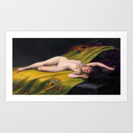 "Luis Ricardo Falero ""Reclining Nude"" Art Print"