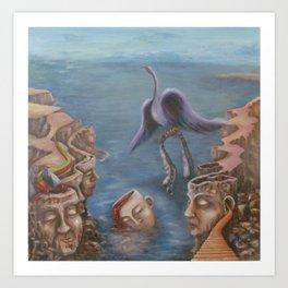 Cliff Souls Art Print