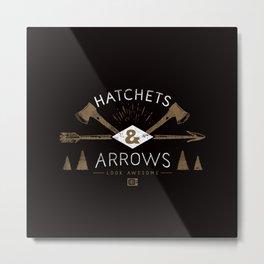 Hatchets & Arrows Metal Print