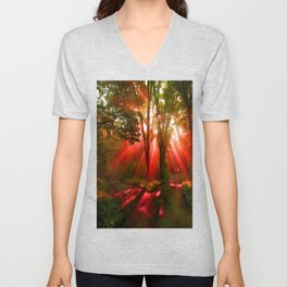 A Parting Of The Way Unisex V-Neck