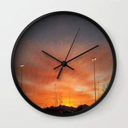 Sunburst sunset in Salt Lake City, Utah Wall Clock