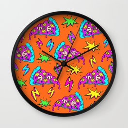 Crazy space alien pizza attack! #2 Wall Clock