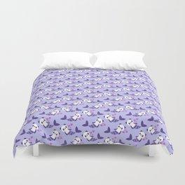 Cute purple merpandas Duvet Cover
