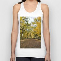 literary Tank Tops featuring Central Park New York City by Vivienne Gucwa