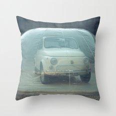 bubble car Throw Pillow
