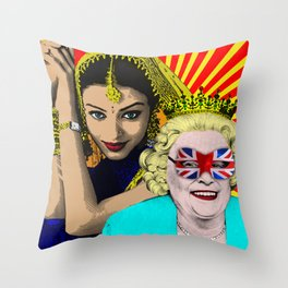 The Queens Throw Pillow
