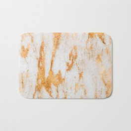 Glitter Gold and Rose Gold Marble Pattern Bath Mat