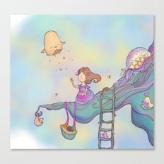 Up on the treetop Canvas Print